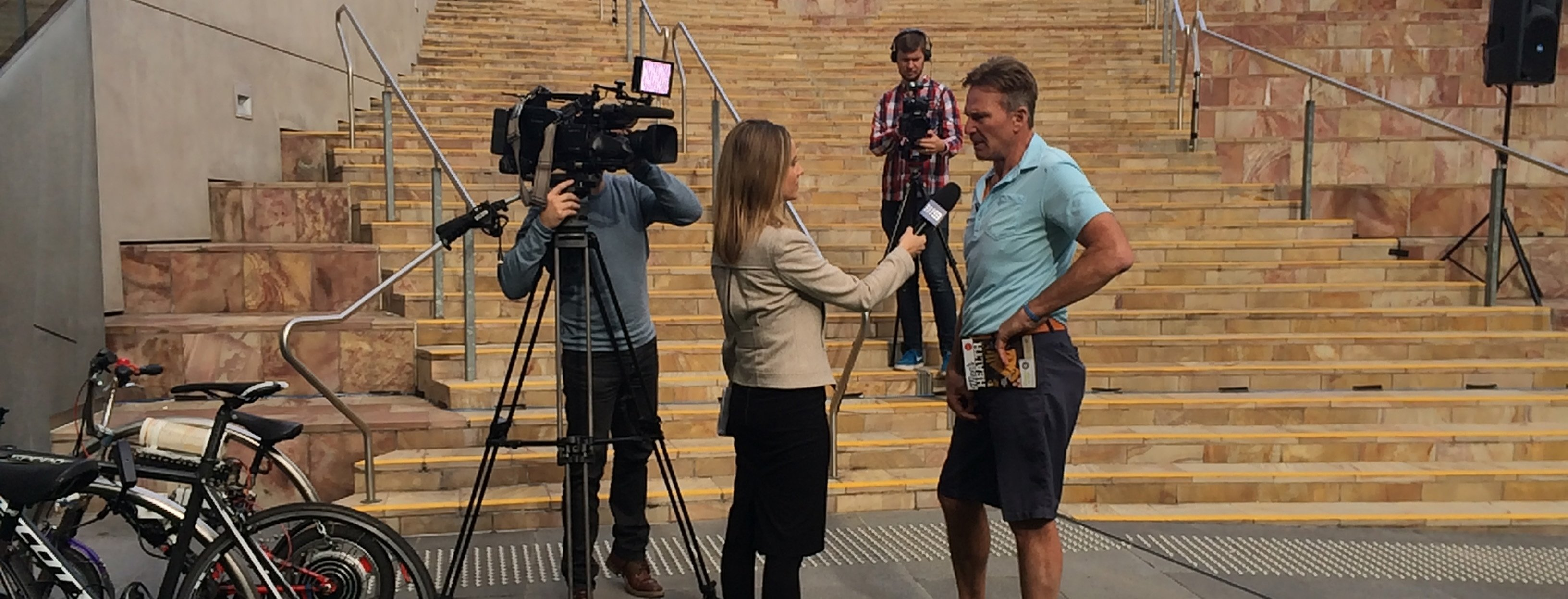 BPH event sam newman with channel 9.jpg