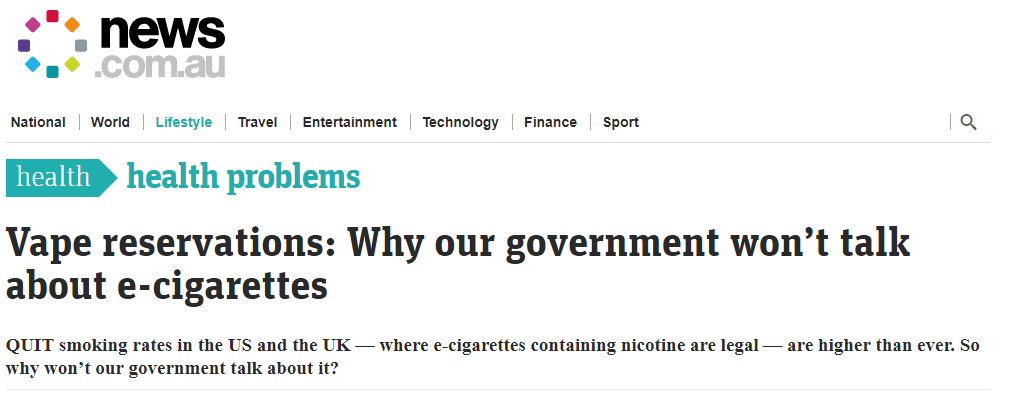 vaping headline
